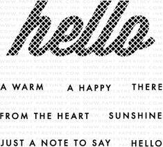 Wonderful Words: Hello Mini Stamp Set: Papertreyink