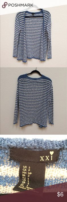 F21 Striped Cardigan open knit, super comfy, bundle friendly! Forever 21 Sweaters Cardigans