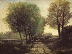 Alfred Sisley Lane near a Small Town