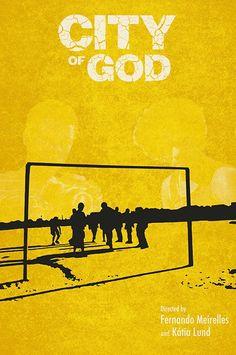 Cidade de Deus (City of God) (2002) ~ Minimal Movie Poster by Daniel Price #amusementphile