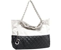 MG Collection CAMRYN Black Quilted Accent Oversized Hobo Handbag w/ Double Shoulder Chain