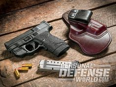 Enhancing the compact Smith & Wesson M&P Shield with top-notch upgrades for everyday carry. Smith & Wesson, Smith And Wesson Shield, Gun Holster, Leather Holster, Holsters, M&p Shield 9mm, M&p 9mm, Military Guns, Personal Defense