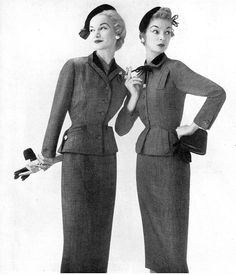 Sunny Harnett and Jean Patchett, 1953