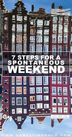 Need a last minute escape? Bad week at work? Follow these 7 simple steps for… #ad