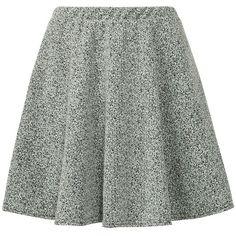 Grey Marble Skater Skirt ($24) ❤ liked on Polyvore