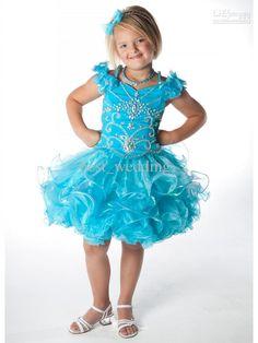 Stunning bright hunter bead lovely flower girl dress toddler pageant dress little girl party dress, Free shipping, $67.2-85.12/Piece | DHgate