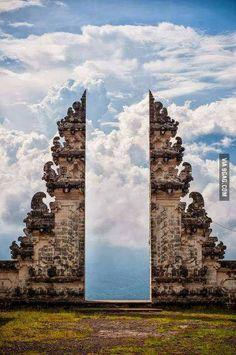 Pura Lempuyang Door in Bali, Indonesia.