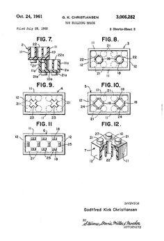 Brevet Lego - Les premiers brevets de jouets devenus célèbres