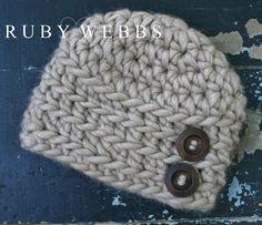Newborn Boy s crochet Alpaca hat in the color Bobcat by rubywebbs b3e246f12637