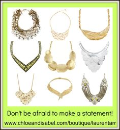 Statement Necklaces from Chloe + Isabel