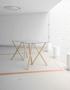 'Mika' table by German designer Stephanie Jasny
