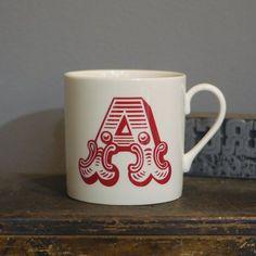 circus alphabet mug letter a