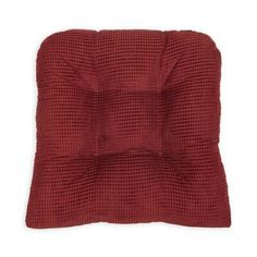 Latitude Run Indoor Use Only Dining Chair Cushion Fabric: Burgundy Red Outdoor Dining Chair Cushions, Seat Cushions, Retro Office, Cushions Online, Cushion Fabric, Chair Pads, Bars For Home, Baby Clothes Shops, Memory Foam