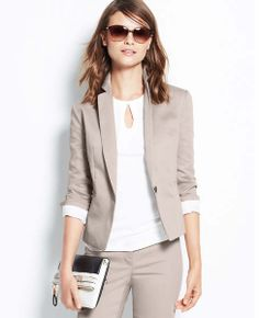 Cotton Sateen One Button Jacket