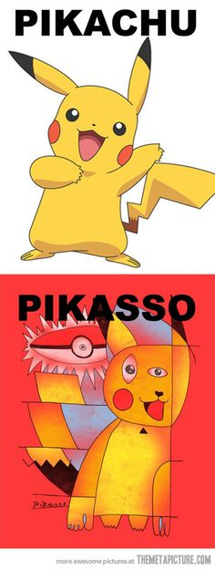 pikachu by pikasso Art Memes, Memes Arte, Keith Haring, Middle School Art, Art School, Pokemon, Ecole Art, Arts Ed, Funny Art