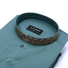 Best Collar Designs For Mens Shalwar Kameez - Pakistani Lawn Suit Simple Kurta Designs, Mens Kurta Designs, Mens Designer Shirts, Designer Clothes For Men, New Fashion Trends, Mens Fashion, Fashion Styles, Occasion Wear Dresses, Shalwar Kameez Pakistani