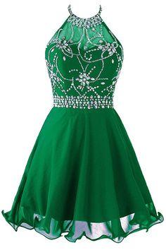 Amazon.com: Topdress Women's Short Beaded Prom Dress Halter Homecoming Dress Backless Dark Purple US 10: Clothing $89.89