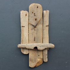 Driftwood Clock Driftwood Wall Clock Drift Wood by JuliasDriftwood