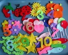 Any flannel board sets would be fun.  Here's and example: Numbers Children's Flannel Board Felt Set. $20.00, via Etsy.
