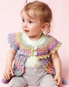 Rainbows and Lolli Pops Baby Tunic | AllFreeCrochet.com - free pattern