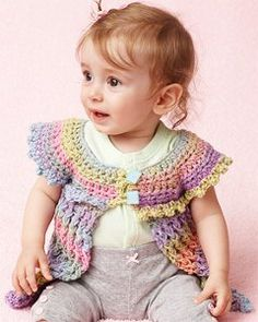 Rainbows and Lolli Pops Baby Tunic | AllFreeCrochet.com - free pattern