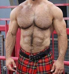 dcguy: Hairy Torso In A Kilt