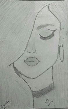 You know it kinda looks like selena gomez amazing drawings, easy drawings, cute drawings Easy Pencil Drawings, Easy Drawings Sketches, Cool Art Drawings, Beautiful Drawings, Drawing Ideas, Simple Sketches, Drawing Tips, Pencil Drawing Tutorials, Disney Drawings