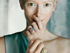 Pomellato ring (Kering) on Tilda Swinton