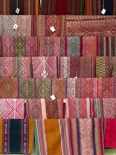 Colorful Textiles in a Peruvian Market