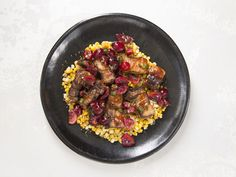 Grilled Pork Belly with Buttered Corn and Sour-Sweet Cherry-Jalapeño Relish Recipe | SAVEUR