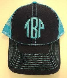 94a29c67051cb Monogrammed Initial Cap with Mesh Back