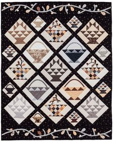 Code: ISBN: 9781604682496 Author: Pat Wys Neutrals--they're not just for backgrounds anymore! Pat Wys, top-selling author of Spotlight on Neutrals, has outdone herself with this new collection. You'll love exploring the nuances of neutrals with ea Small Quilts, Mini Quilts, Quilt Sets, Quilt Blocks, Quilting Projects, Sewing Projects, Quilting Ideas, Laundry Basket Quilts, Sewing Baskets