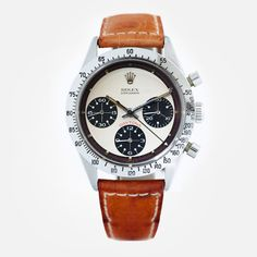 Gent's vintage rare Rolex Cosmograph 'Paul Newman' Daytona wristwatch. Stainless steel Rolex Oyster case featuring