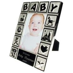 Engraved Silver Plated Playtime Baby Photo Frame. £25.99 #NewBaby #PersonalisedBabyGifts #PersonalisedGifts #Newborn #Baby ##BabyPhotoFrame