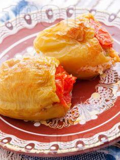 Рецепта за Пълнени постни чушки - начин на приготвяне, калории, хранителни…