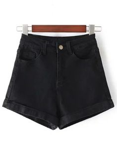 SHARE & Get it FREE | High-Rise Denim Shorts - BlackFor Fashion Lovers only:80,000+ Items • New Arrivals Daily Join Zaful: Get YOUR $50 NOW!