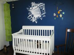 Not necessarily something I could accomplish in our next new house but this is completely awesome! Doctor Who nurseries FTW!