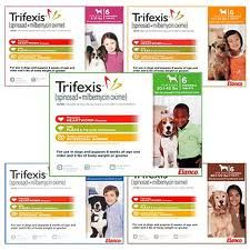 Trifexis is a monthly, chewable tablet for dogs that kills fleas, prevents heartworm disease, and treats and controls adult hookworm, roundworm and whipworm infections. Trifexis combines two trusted active ingredients to provide protection for your dog against these three kinds of dangerous parasites.