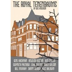 Open Edition Illustrative Film Poster entitled 'The Royal Tenenbaums'. This poster is available framed and unframed. Little Dorrit, Alamo Drafthouse, The Royal Tenenbaums, Ben Stiller, Minimal Movie Posters, Film Posters, Owen Wilson, Moonrise Kingdom, Screen Print Poster