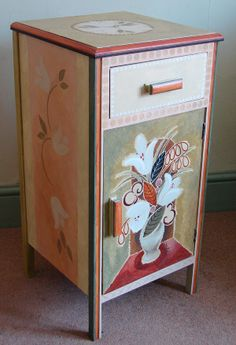 Hand-painted night stand,