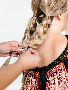 Easy Triple Braided Updo Tutorial for holidays or every day! - The Effortless Chic