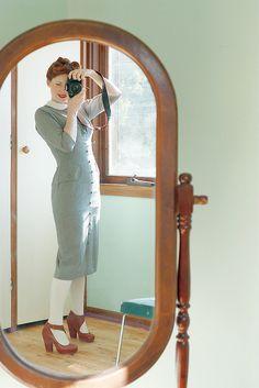 vintage peter pan collar dress f by night.owl, via Flickr
