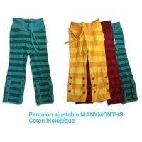 Pantalon ajustable MANYMONTHS Coton biologique