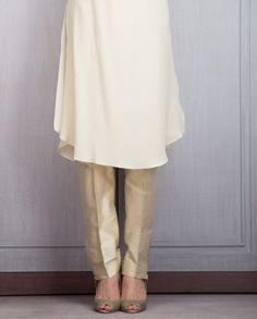 Off White Tunic with Gota Work