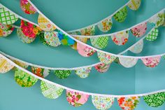 #LaFestaPiuBella #compleanno #party #birthday #festadicompleanno #birthdayparty #kids #children #bambini #eventi #events |  trishyrose: girlyme: scalloped fabric garland...