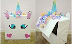 Valentine's Day DIY: Unicorn Valentine Box with FREE Printable . Valentine's Day DIY: Unicorn Valentine Box with FREE PrintableHow adorable is this gift box? Unicorn Valentine, Valentine Day Boxes, Unicorn Birthday, Unicorn Party, Valentine Crafts, Valentines, Diy And Crafts Sewing, Crafts For Girls, Fun Crafts