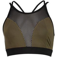 Boohoo Isabelle Fit Mesh Strappy Sports Bra | Boohoo ($14) ❤ liked on Polyvore featuring activewear, sports bras and strappy sports bra