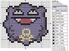 Birdie Stitching Pokemon Pattern - 109 Koffing