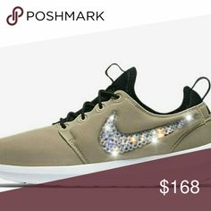 best authentic 88bd3 93fb7 Selling this Women s Nike roshe two SE with swarovski crystals on Poshmark!  My username is