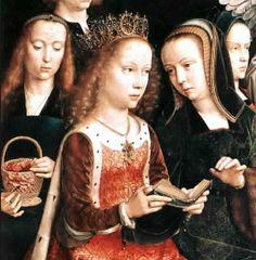 DAVID Gerard - Flemish (Oudewater 1460-1523 Brugge ) - 1509 Detail from VIRGIN AMONG VIRGINS